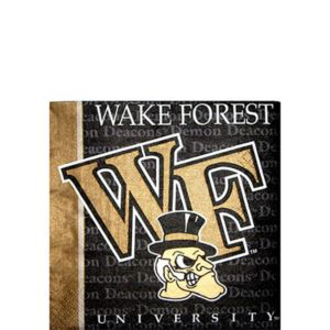 Wake Forest Demon Deacons Beverage Napkins 16ct