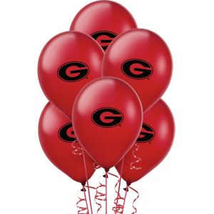 Georgia Bulldogs Balloons 10ct