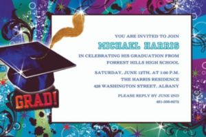 Custom Grad Reflections Invitations