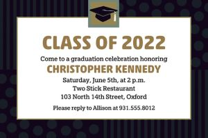 Custom Class Pride Graduation Invitations