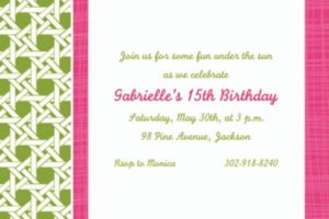 Custom Fresh Hues Kiwi Invitations