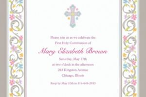 Custom Blessed Day Invitations