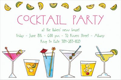 Custom Mixed Drinks Invitations