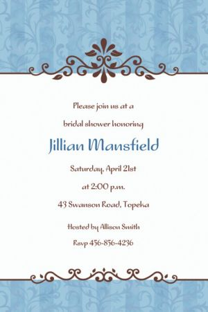 Custom Ornamental Lines Periwinkle Invitations