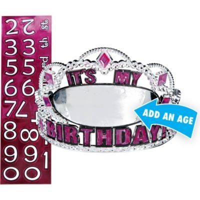 Hot Pink Birthday Personalized Tiara