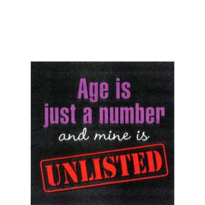 Age is Just a Number Beverage Napkins 16ct