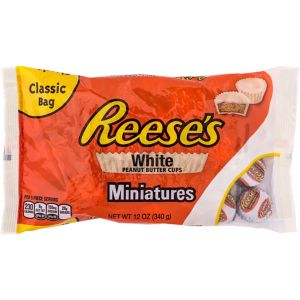 White Chocolate Reese's Peanut Butter Cup Miniatures 40ct