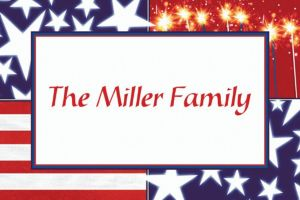 Custom Star Spangled Banner Patriotic Thank You Notes