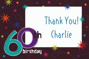 Custom The Party Continues 60th Birthday Thank You Notes