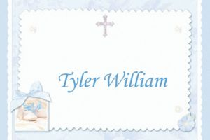 Custom Tiny Blessing Blue Thank You Notes