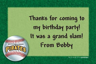 Custom Pittsburgh Pirates Thank You Notes
