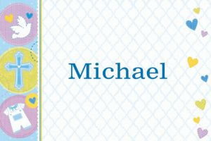 Custom Blue Sweet Religious Thank You Notes