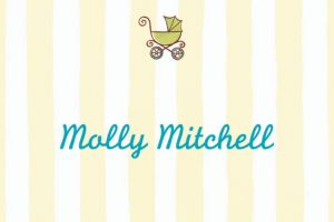 Custom Tiny Carriage on Stripe Baby Shower Thank You Notes