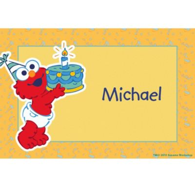 Custom Elmo First Birthday Thank You Notes