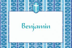 Custom Cross with Blue Stripe Thank You Notes