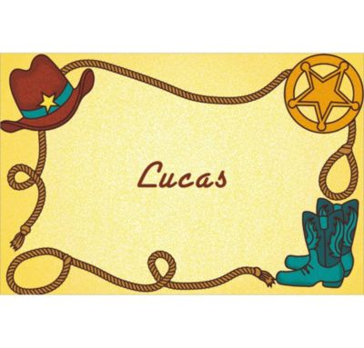 Custom Little Cowboy Motif Thank You Notes