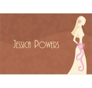 Custom Classy Bride on Brown Bridal Shower Thank You Notes