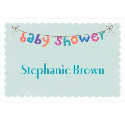 Custom Baby Shower Banner Thank You Notes