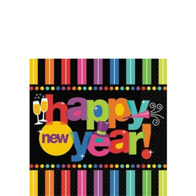 Bright New Year Beverage Napkins 125ct