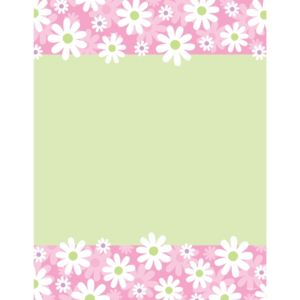 Daisy Stripe Laser Sheet 25ct