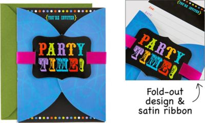Birthday Cheer Large Invitations 8ct