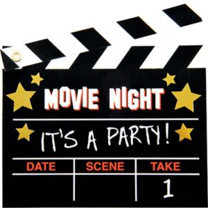 Premium Glitter Movie Party Invitations 8ct