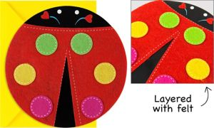 Lovely Ladybug Jumbo Invitations 8ct