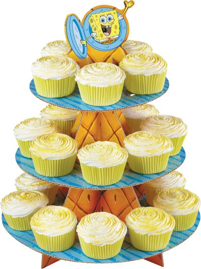 SpongeBob Cupcake Stand Holds 24