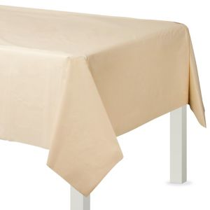 Vanilla Plastic Table Cover
