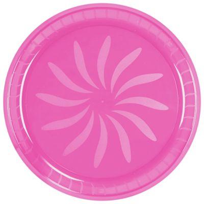 Pink Swirl Plastic Platter