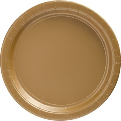 Gold Paper Dinner Plates 20ct