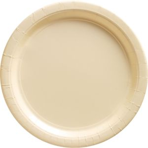 Vanilla Cream Paper Dinner Plates 20ct
