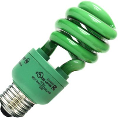Green CFL Light Bulb