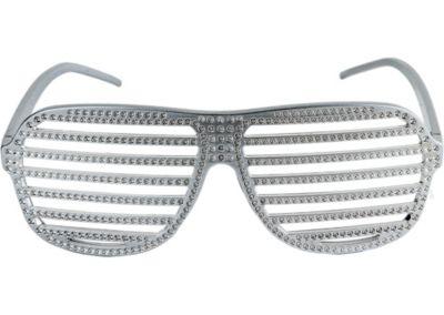 Rhinestone Slotted Glasses