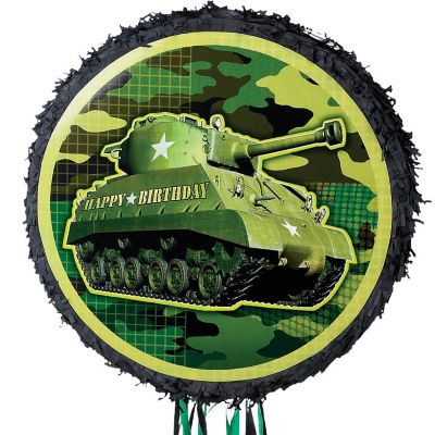 Pull String Camouflage Tank Pinata