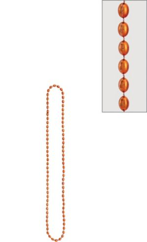 Metallic Orange Bead Necklace