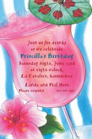 Custom Tropical Drink Invitations