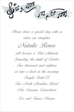 Custom Musical Notes Invitations