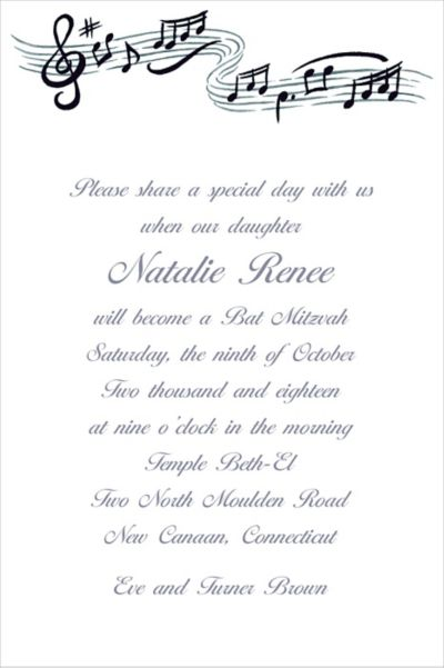 Musical Notes Custom Invitation