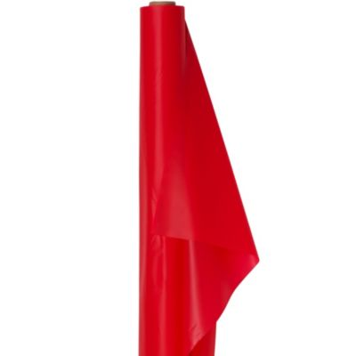Red Plastic Table Cover Roll