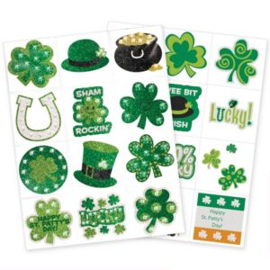St. Patrick's Day Body Art Set 2 sheets