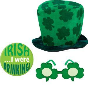 St. Patrick's Day Shamrock Hat Set 3pc