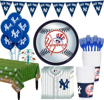 New York Yankees Super Party Kit for 18 Guests