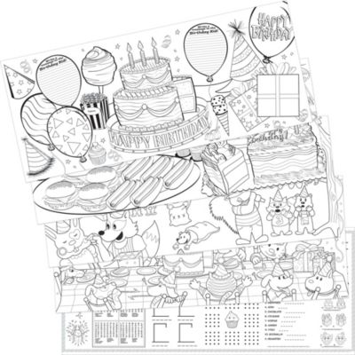 Birthday Coloring Sheets 5ct