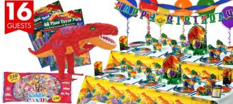 Prehistoric Dinosaurs Ultimate Party Kit for 16 Guests