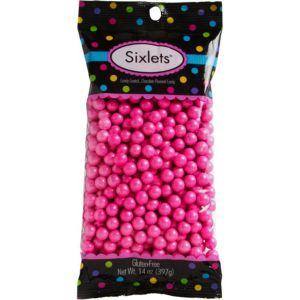 Bright Pink Chocolate Sixlets 450pc