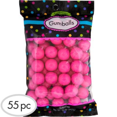 Bright Pink Gumballs 55pc
