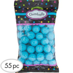 Caribbean Blue Gumballs 55pc
