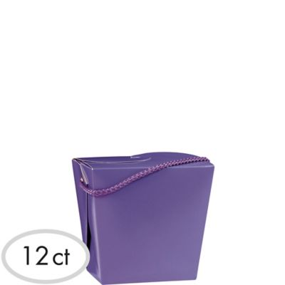 Purple Favor Boxes 12ct