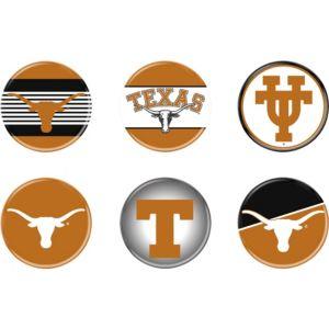 Texas Longhorns Buttons 6ct